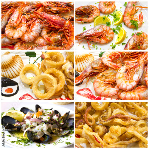 Collage - Fish and seafood