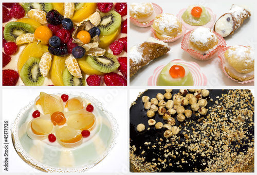 Collage - cakes and desserts
