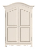 White painted wooden cupboard