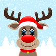 Rudolph Hat Winter Forest Snowfall