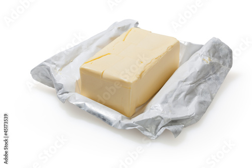 Butter isolated on white