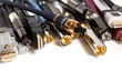 Group  of audio/video cables - 45178377