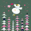 snowman and forest