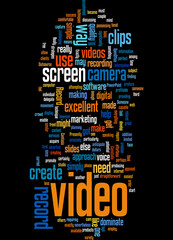 Dominate Video Marketing Concept