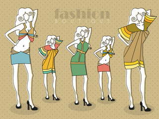 Retro Woman fashion