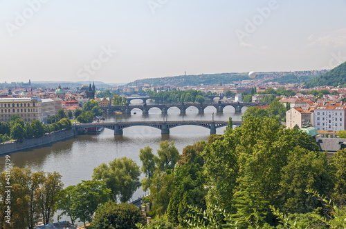 Prague river and bridges