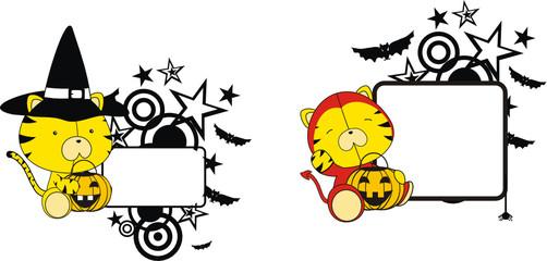 tiger halloween copyspace