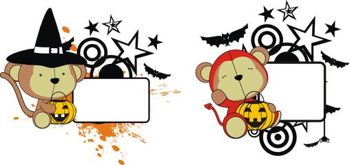 monkey halloween copyspace