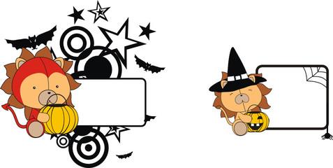 lion halloween copyspace