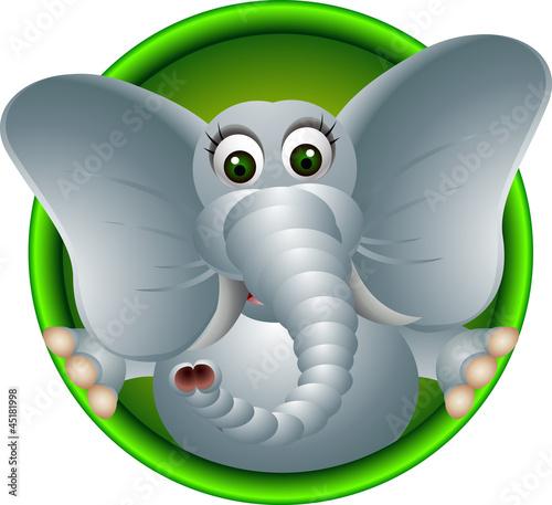cute cartoon głowa słonia