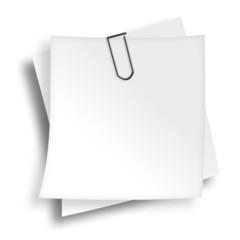 Notizzettel weiß