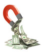 3d Magnet attracts US Dollar wealth
