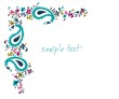 colorful paisley floral pattern , wedding template , India