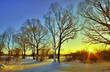 Beautiful winter sunset