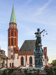 lady Justice in Frankfurt at the Roemer place