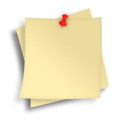 Notizzettel beige