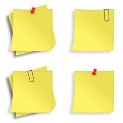 Notizzettel gelb Zusammenstellung
