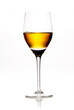 Glass of amber coloured wine or sherry