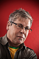 Portrait, Mann mit Brille