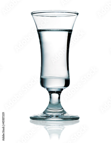 Vodka in a shot glass