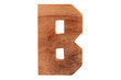 B character digit letter font text sign solid wood #1