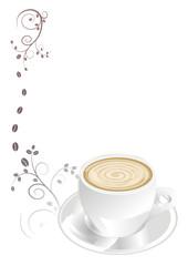 Caffe mit Dekor