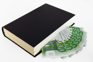 Book and 100 euro's banknotes (hardcover)