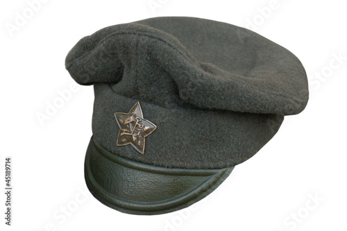 red army cap isolated on white background