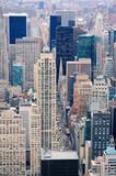 Fototapety New York City Manhattan street aerial view