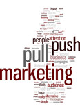 Push and Pull Marketing Concept