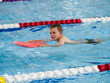 Boy racing in triathlon