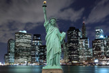 Manhattan Skyline and The Statue of Liberty - 45192580