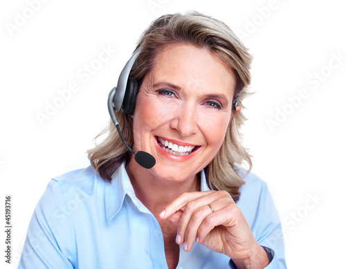 Customer service representative woman.