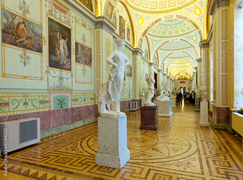 Marble sculptures in State Hermitage
