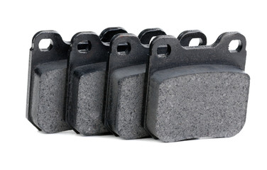 brake pads closeup on white background