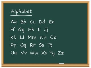 Tableau: alphabet
