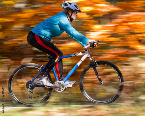 Autumn mountain biking