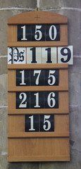 A Church Service Order Board for Hymns and Psalms.