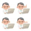 パソコン 医者 表情 セット