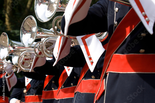 canvas print picture Details from a showband