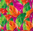 Seamless colored leaves background