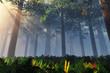 Deep Forest 3D render