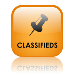 """CLASSIFIEDS"" Web Button ( buy sell classified advertising ads)"