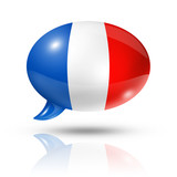 Fototapety French flag speech bubble