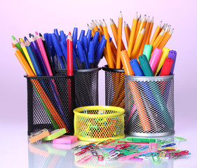 Color  holders for office supplies with them