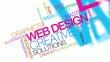 Web design solutions word tag cloud animation colored video