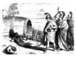 Leinwanddruck Bild - Antiquity : Alexander the Great meets Diogenes