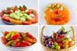 Collage piatti di frutta