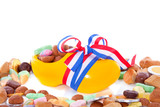 a Dutch clog filled with Sinterklaas gingernuts and candy isolat