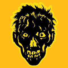 Zombie Face Badge / Seal